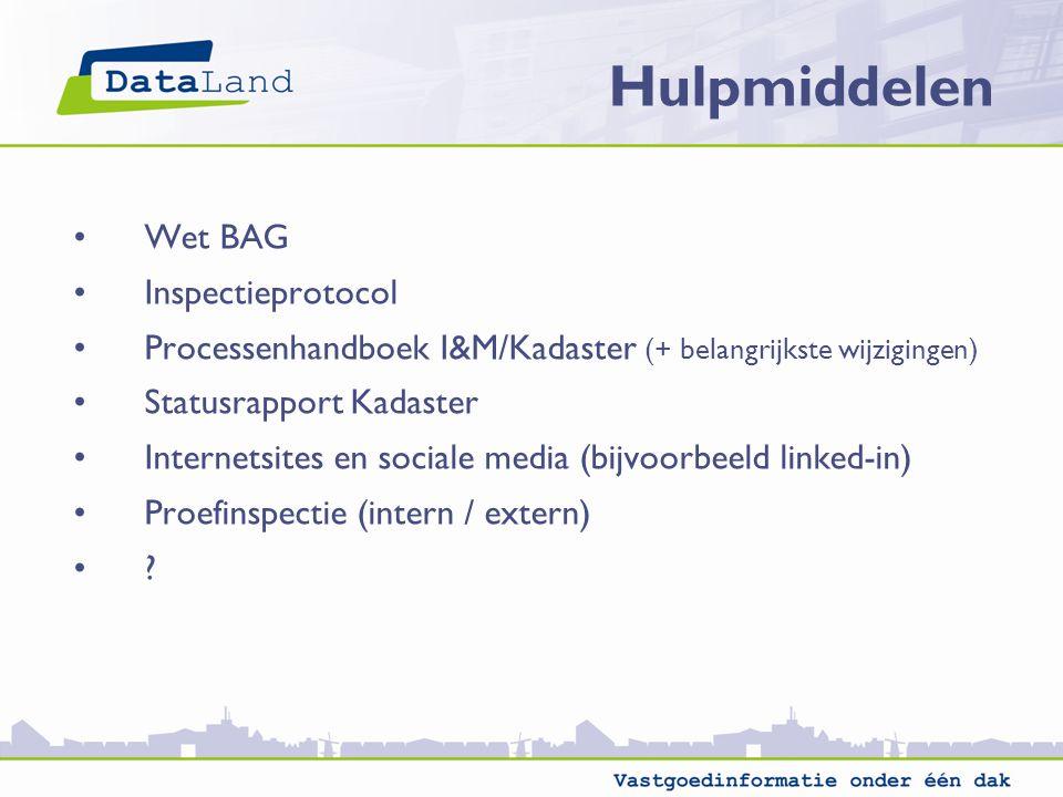 Hulpmiddelen Wet BAG Inspectieprotocol