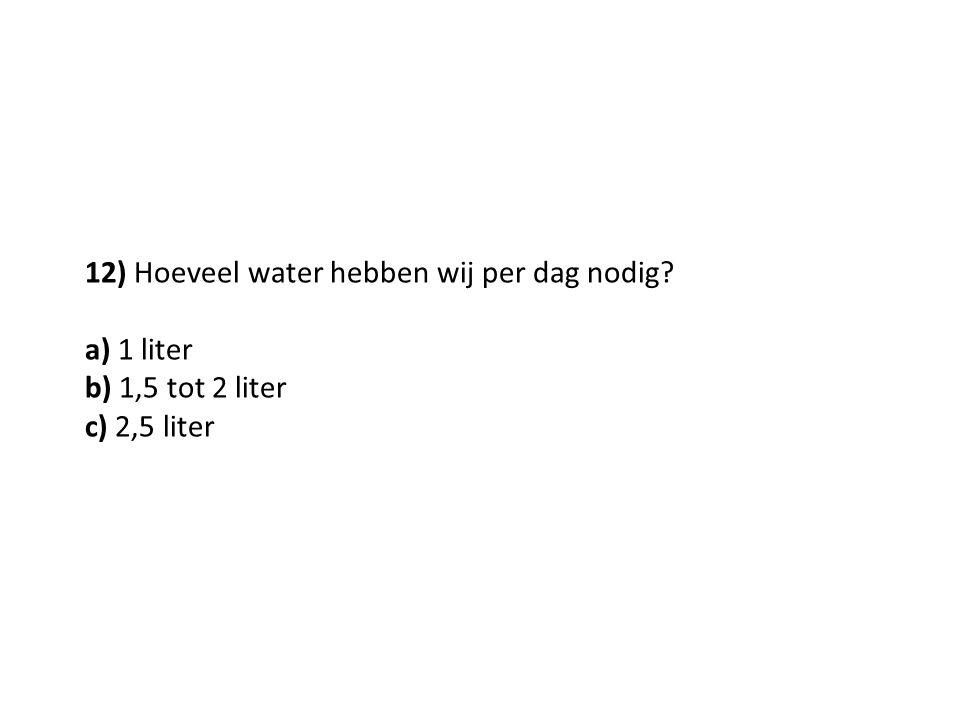 12) Hoeveel water hebben wij per dag nodig