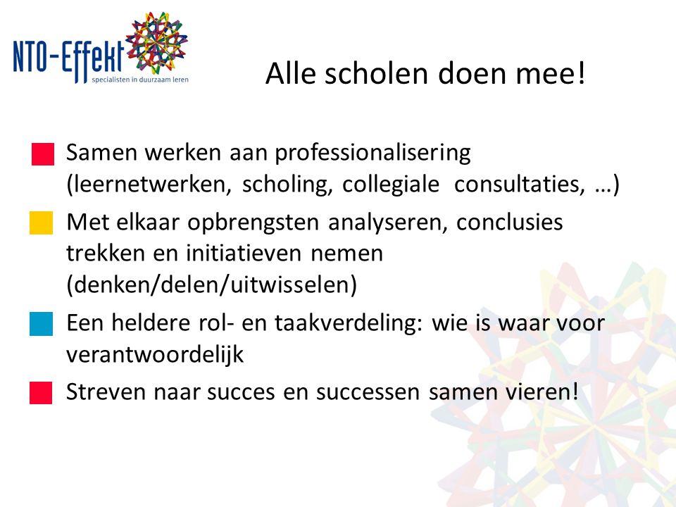 Alle scholen doen mee! Samen werken aan professionalisering (leernetwerken, scholing, collegiale consultaties, …)