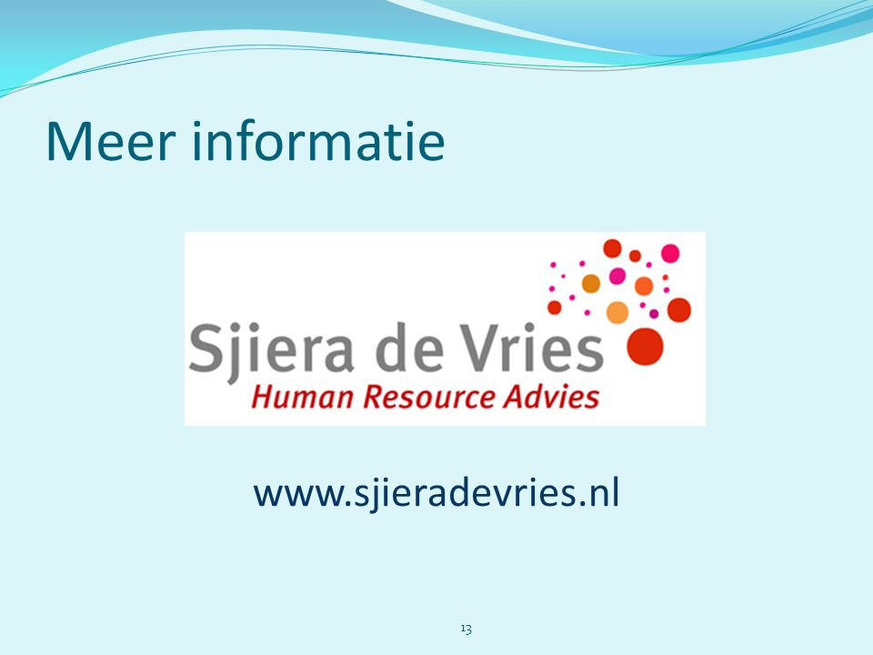Meer informatie www.sjieradevries.nl