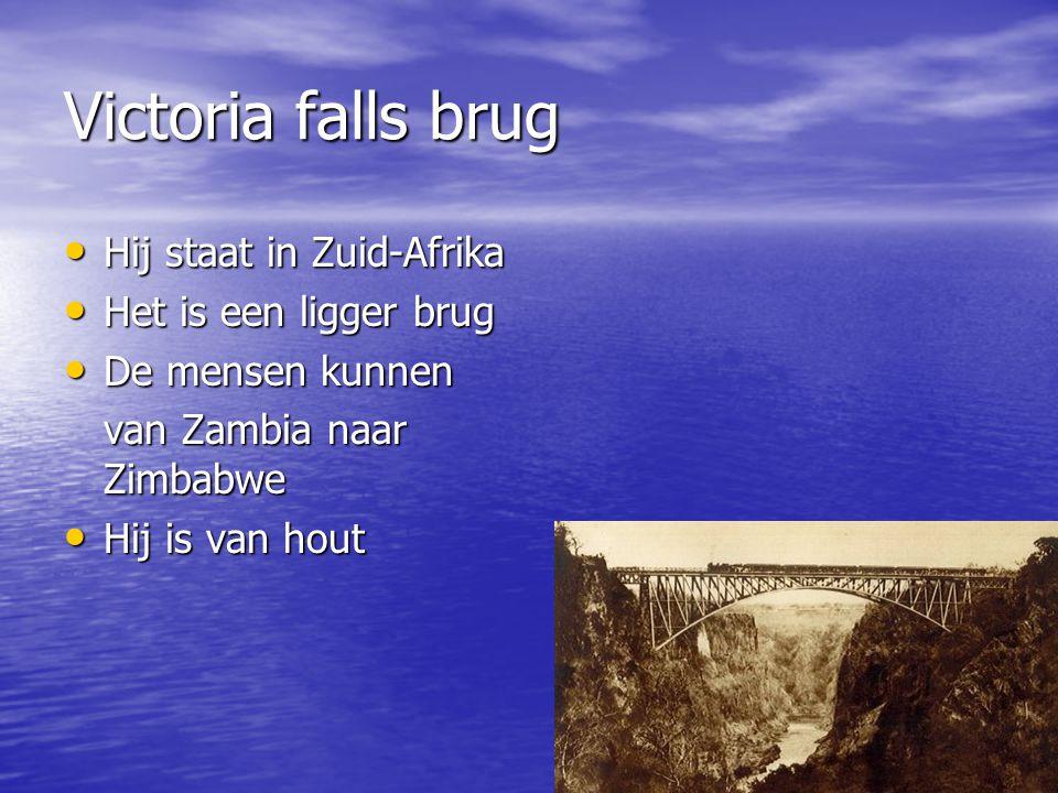 Victoria falls brug Hij staat in Zuid-Afrika Het is een ligger brug