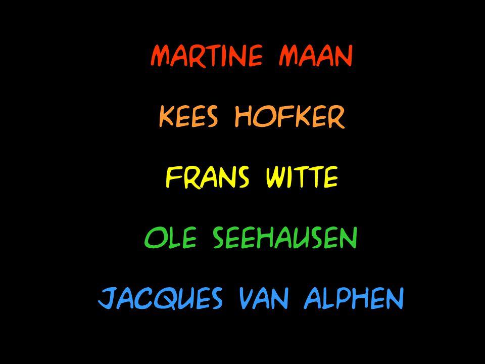 Martine Maan Kees Hofker Frans Witte Ole Seehausen Jacques van alphen