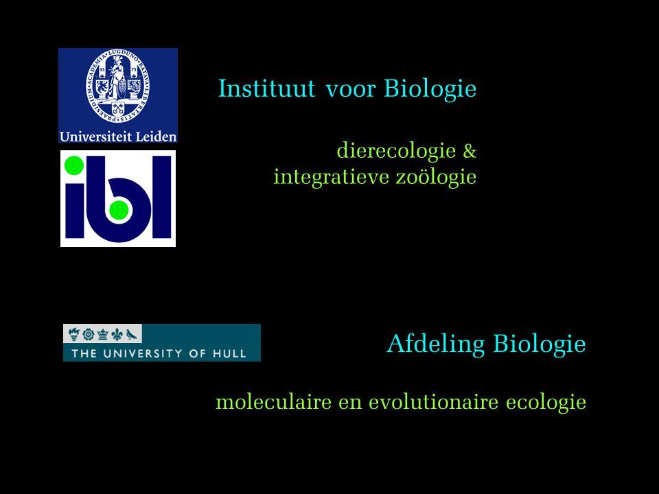 moleculaire en evolutionaire ecologie
