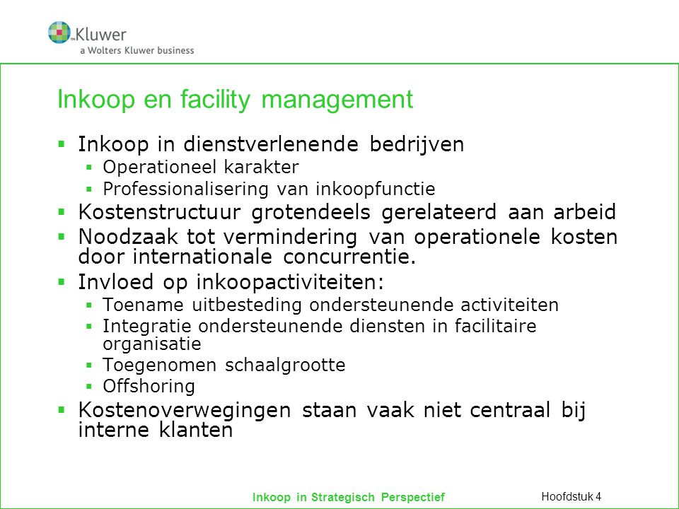 Inkoop en facility management