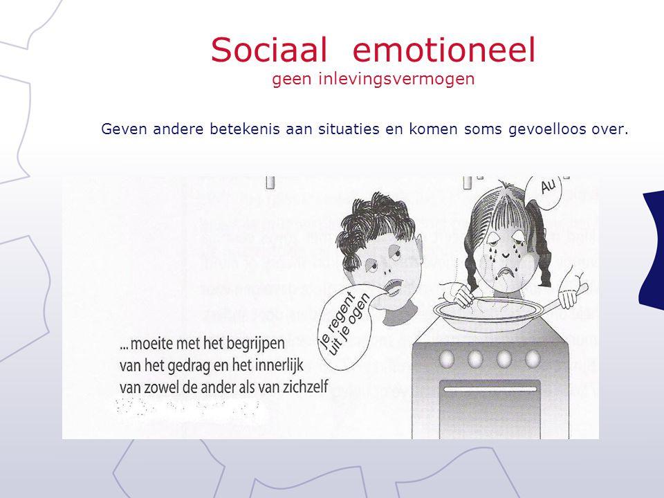 Sociaal emotioneel geen inlevingsvermogen