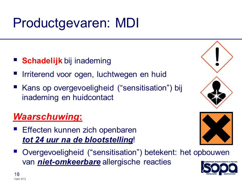 Productgevaren: MDI Waarschuwing: Schadelijk bij inademing