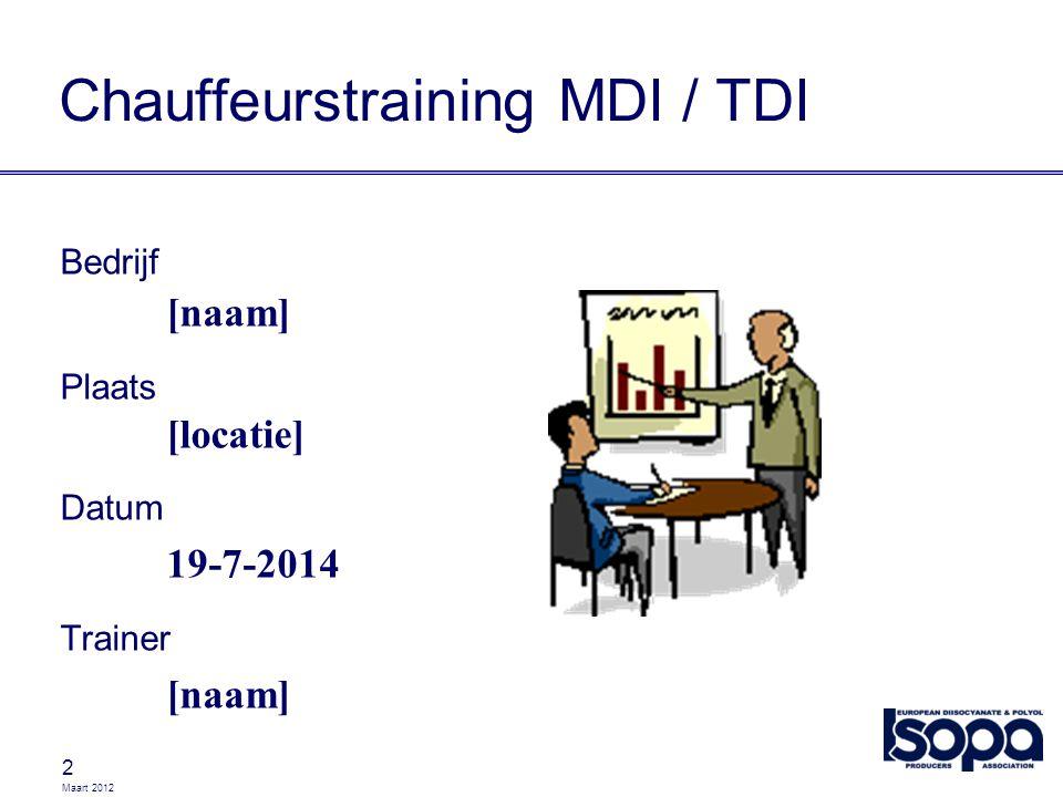 Chauffeurstraining MDI / TDI