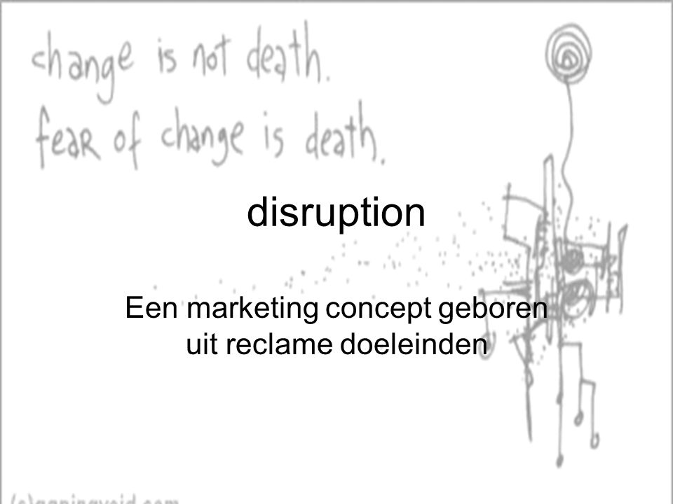 Een marketing concept geboren uit reclame doeleinden