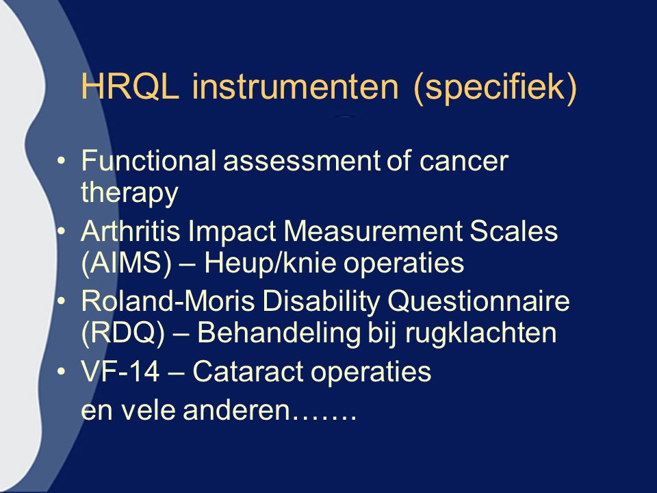 HRQL instrumenten (specifiek)