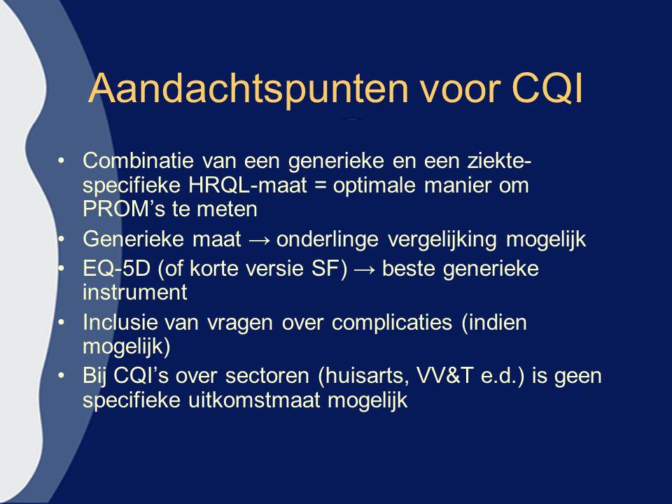 Aandachtspunten voor CQI