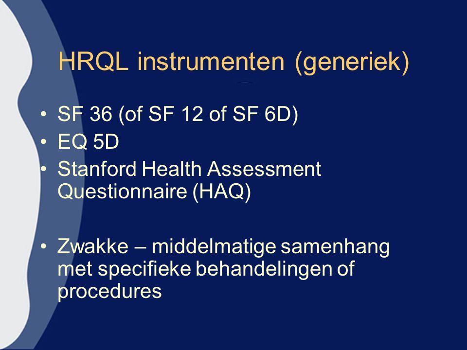 HRQL instrumenten (generiek)
