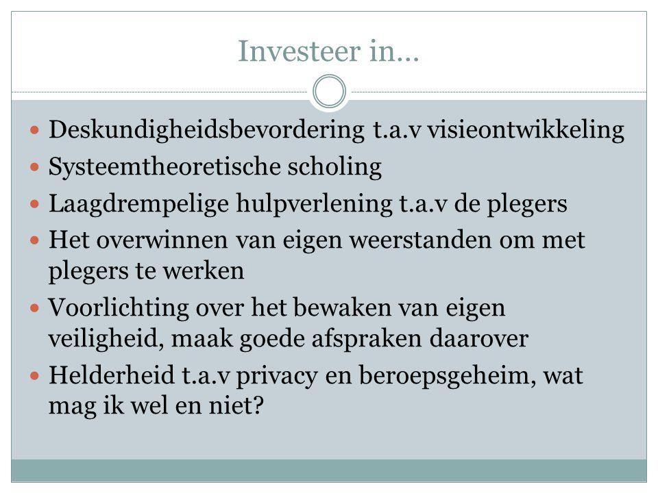 Investeer in… Deskundigheidsbevordering t.a.v visieontwikkeling