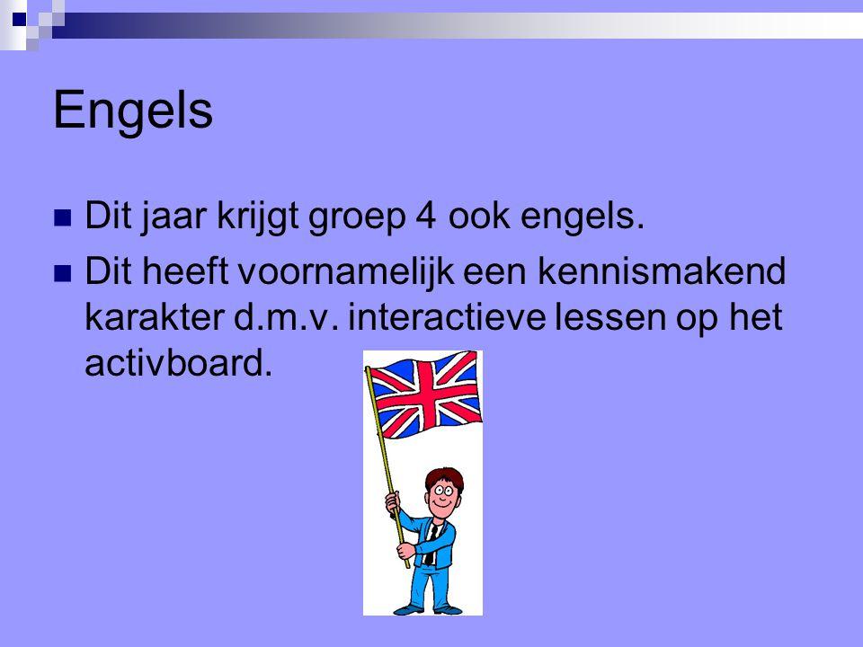 Engels Dit jaar krijgt groep 4 ook engels.