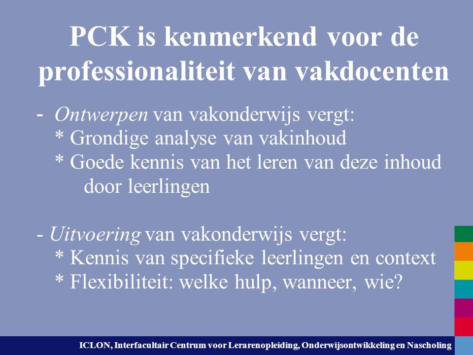 PCK is kenmerkend voor de professionaliteit van vakdocenten