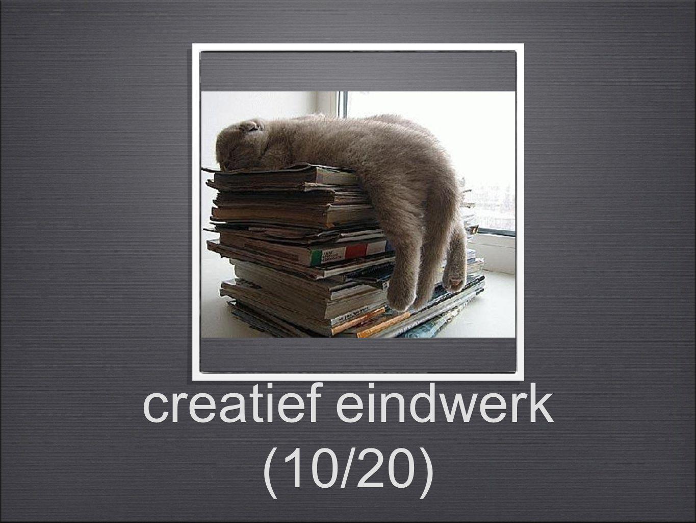 creatief eindwerk (10/20)