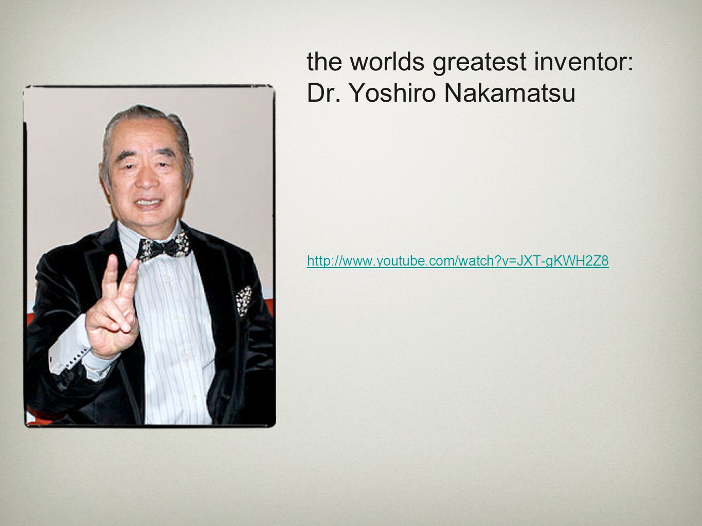 the worlds greatest inventor: Dr. Yoshiro Nakamatsu