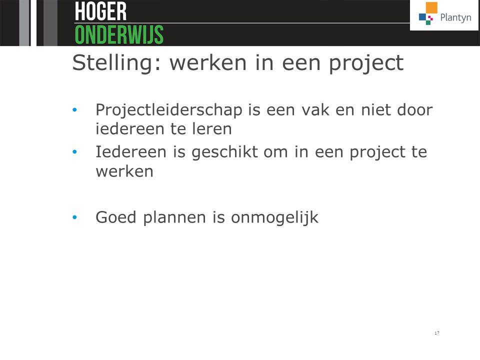 Stelling: werken in een project