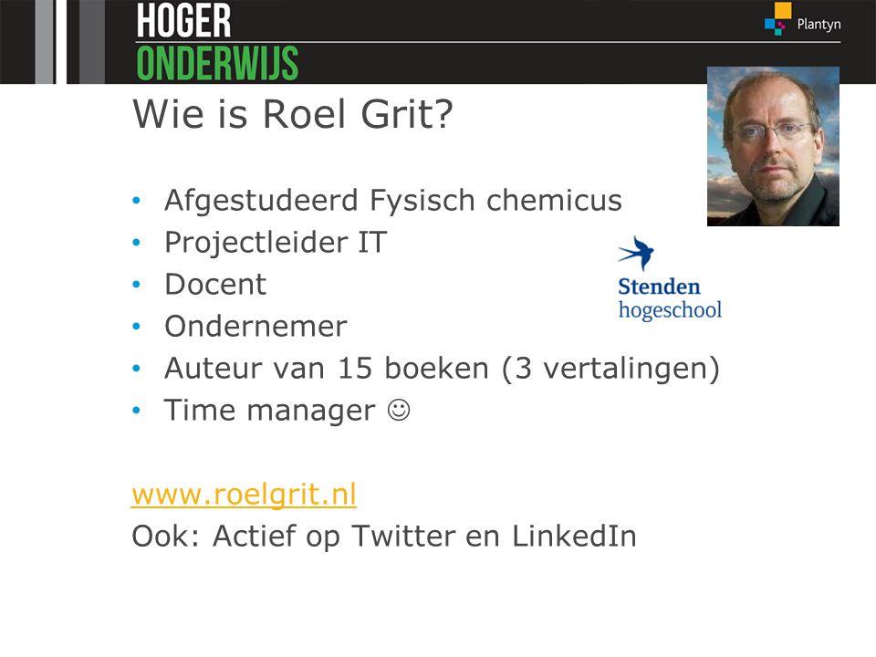 Wie is Roel Grit Afgestudeerd Fysisch chemicus Projectleider IT
