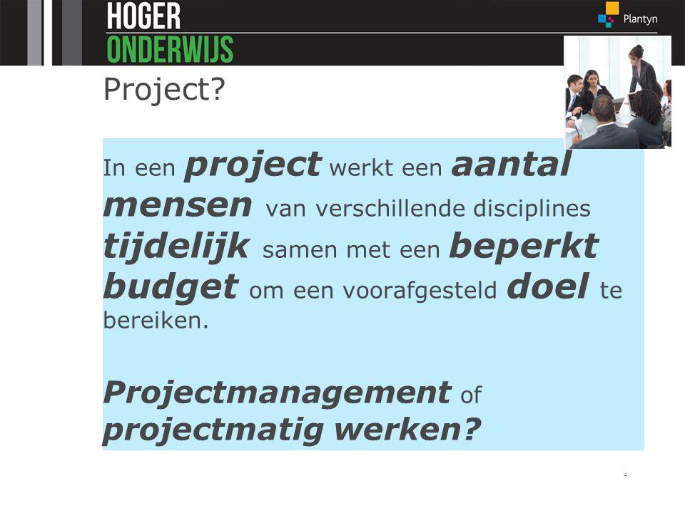 Projectmanagement of projectmatig werken