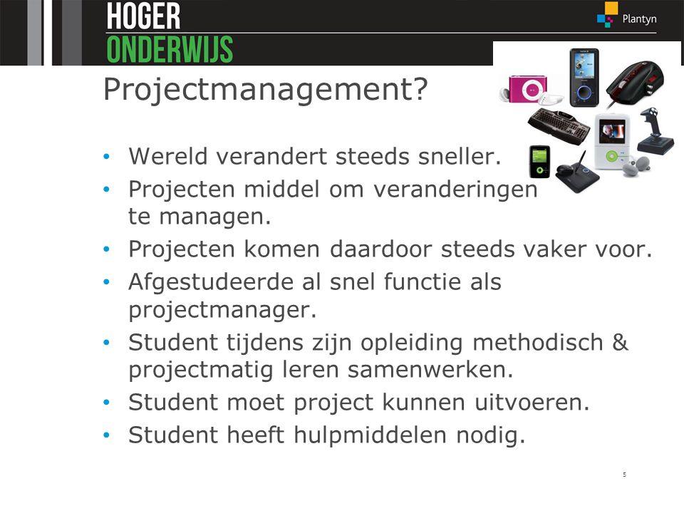 Projectmanagement Wereld verandert steeds sneller.