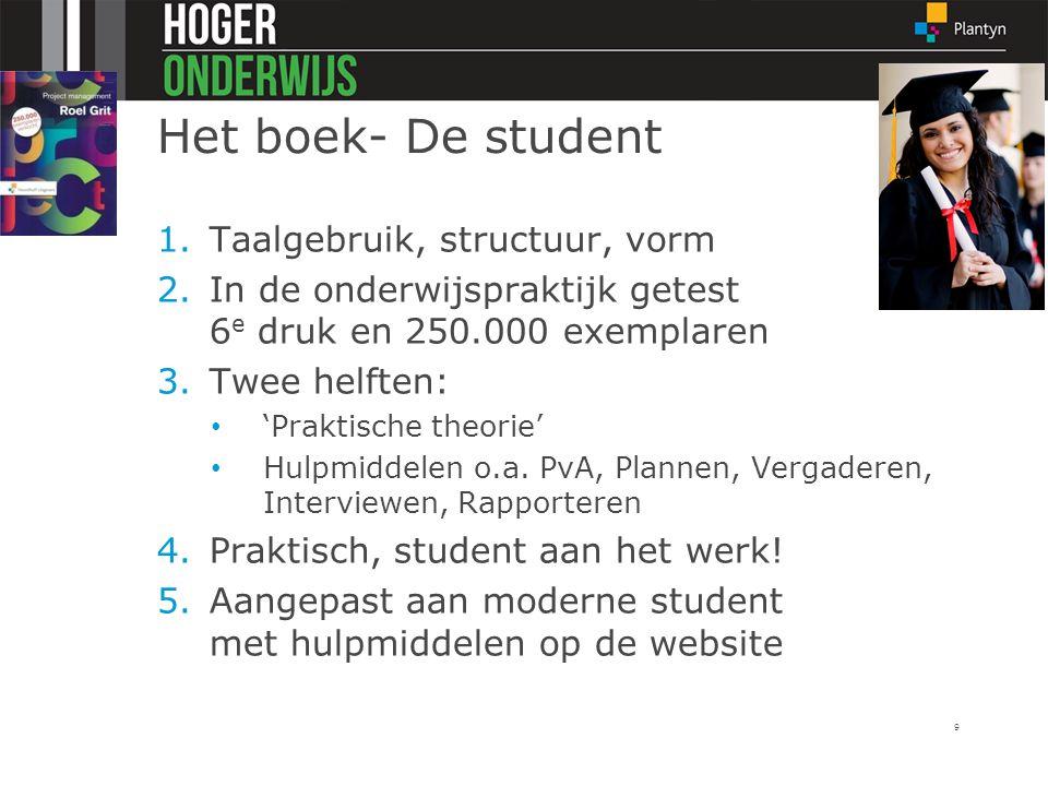 Het boek- De student Taalgebruik, structuur, vorm