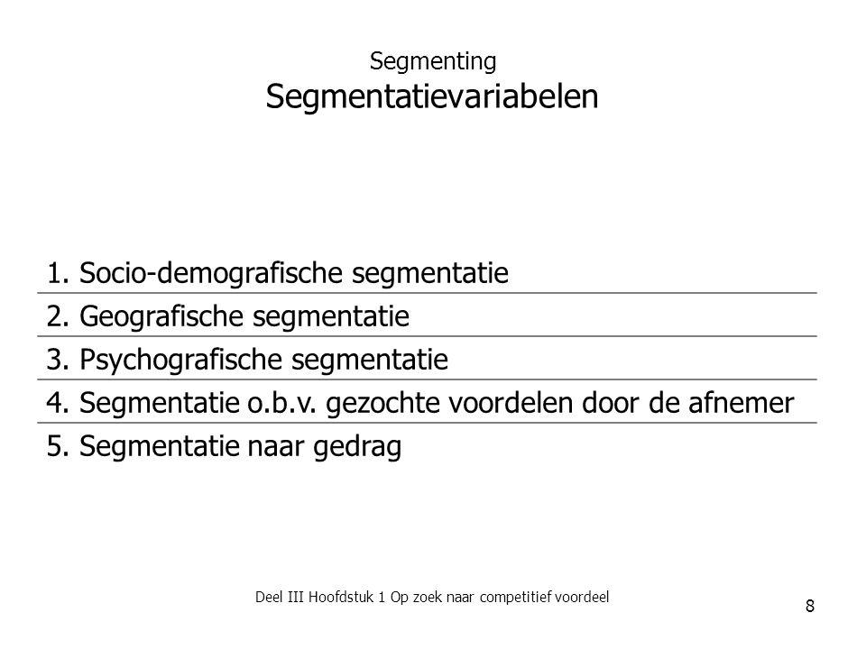 Segmenting Segmentatievariabelen