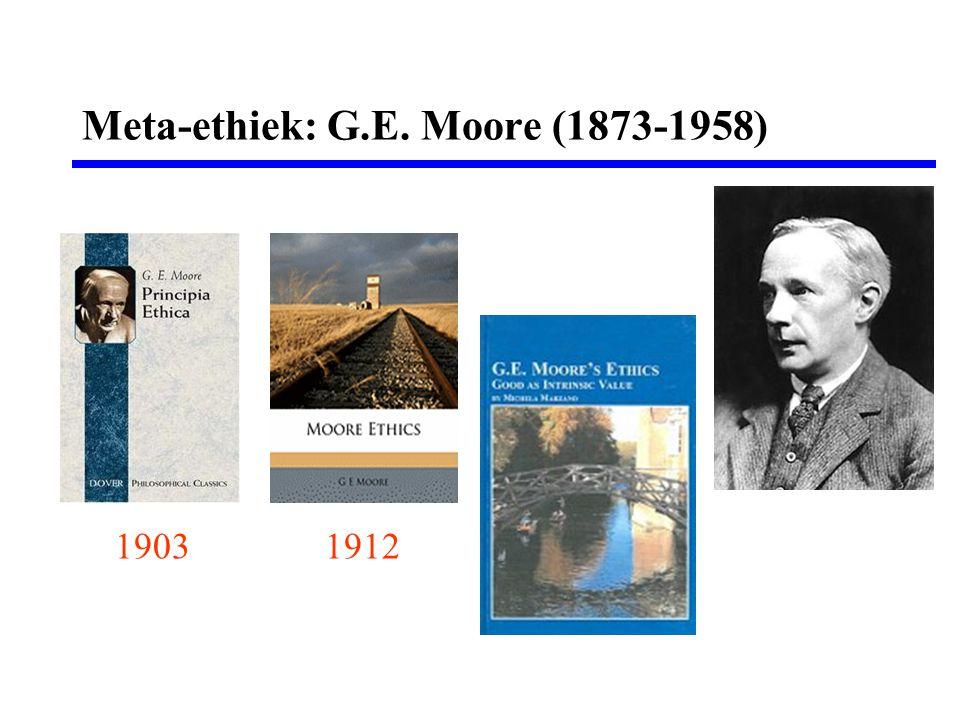 Meta-ethiek: G.E. Moore (1873-1958)
