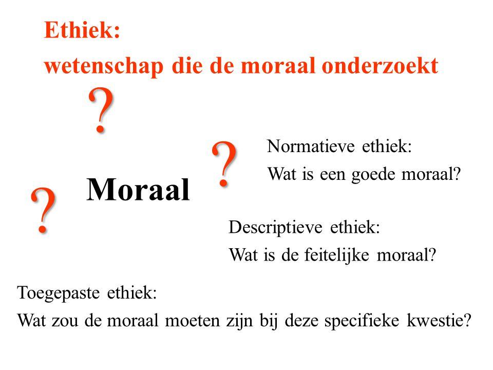 Moraal Ethiek: wetenschap die de moraal onderzoekt