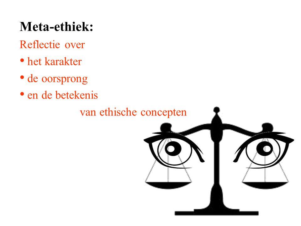 Meta-ethiek: Reflectie over het karakter de oorsprong en de betekenis