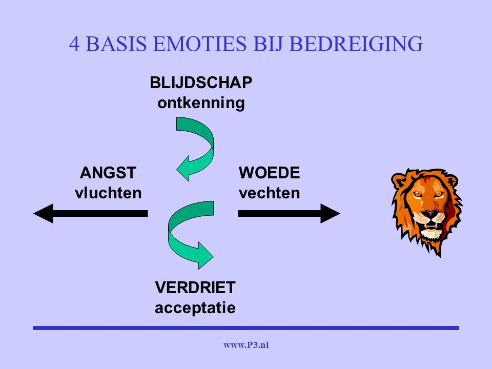 4 BASIS EMOTIES BIJ BEDREIGING