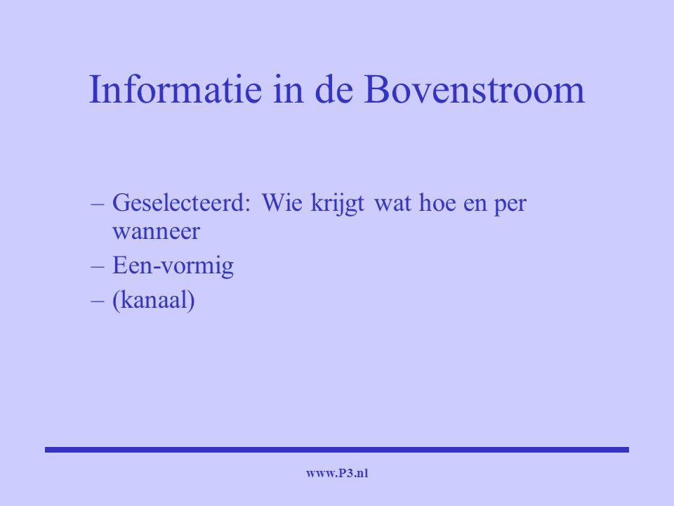 Informatie in de Bovenstroom