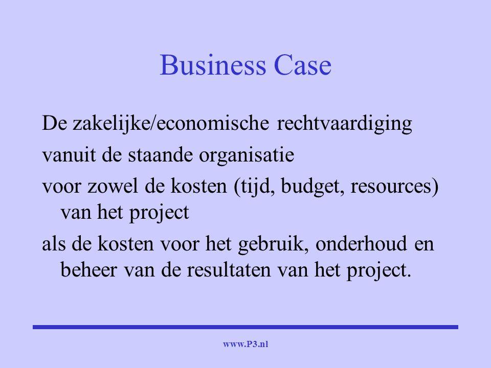 Business Case De zakelijke/economische rechtvaardiging