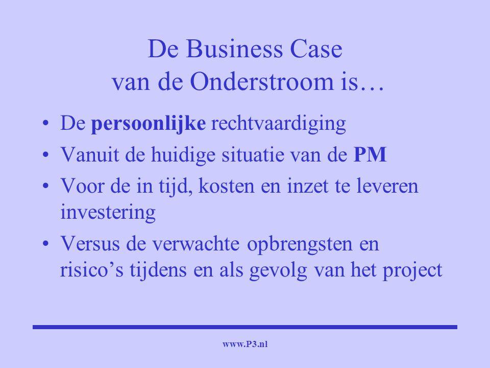 De Business Case van de Onderstroom is…