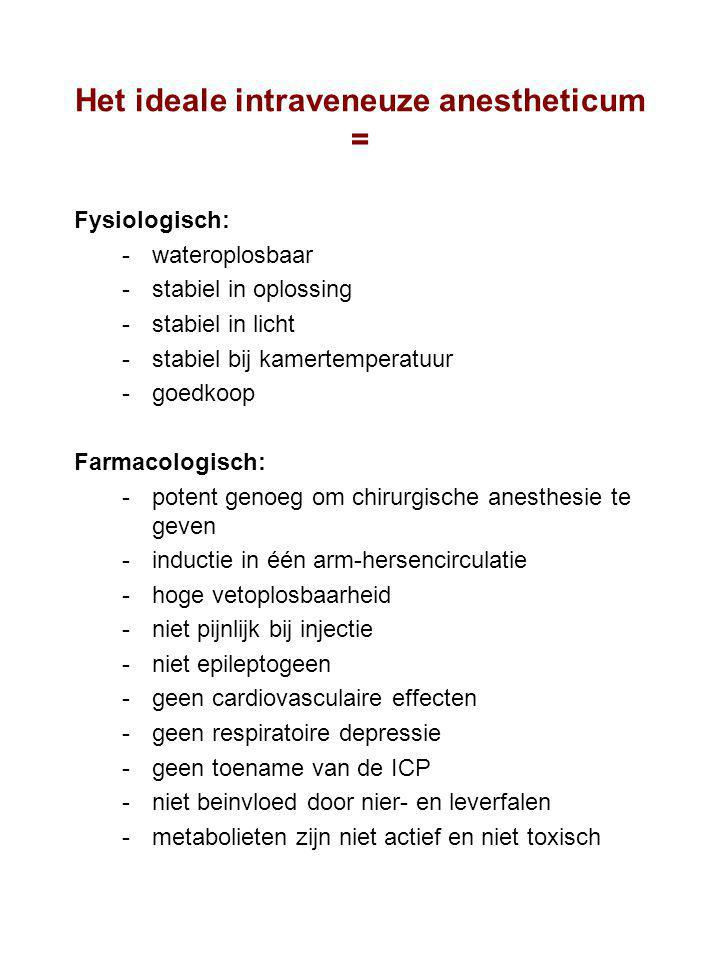 Het ideale intraveneuze anestheticum =