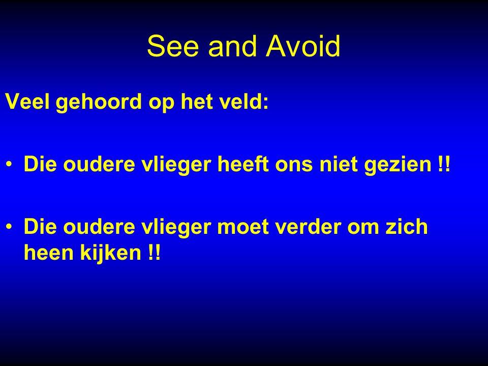 See and Avoid Veel gehoord op het veld: