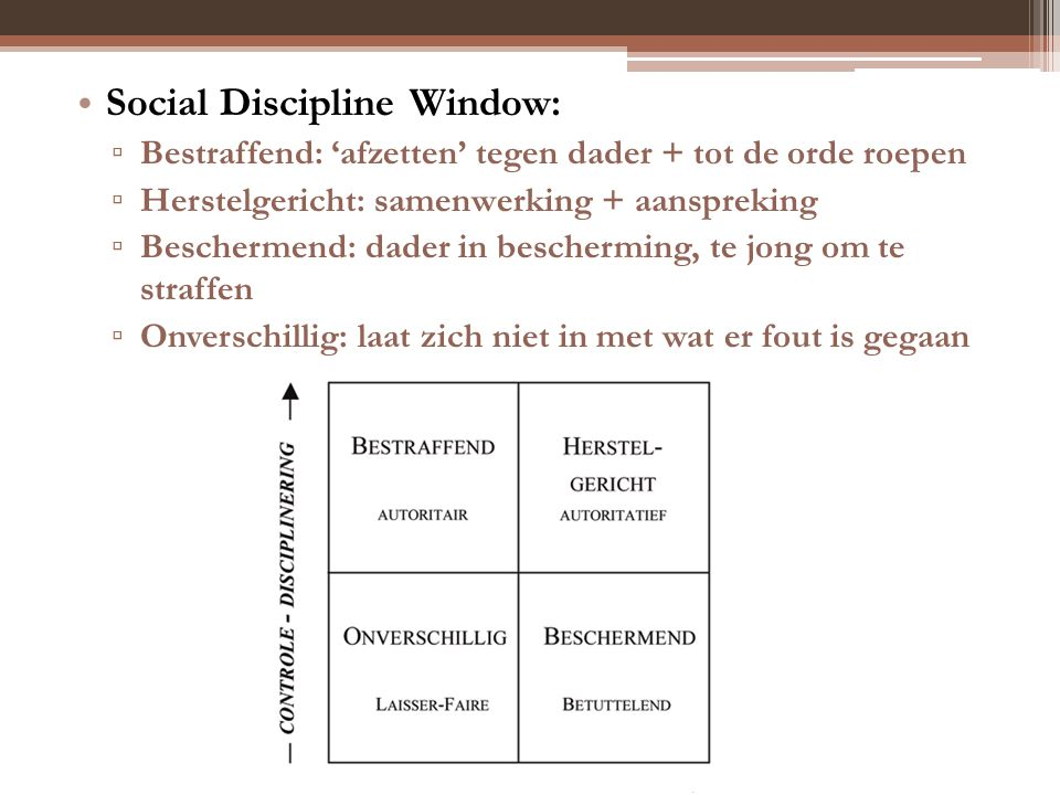 Social Discipline Window: