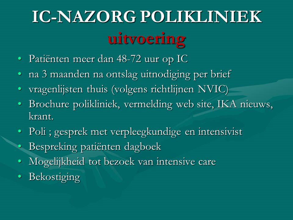 IC-NAZORG POLIKLINIEK uitvoering