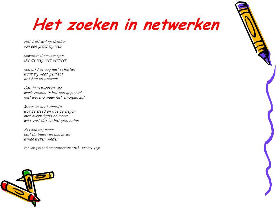 Het zoeken in netwerken