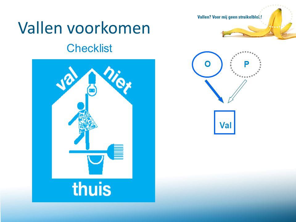 Vallen voorkomen Checklist O P Val