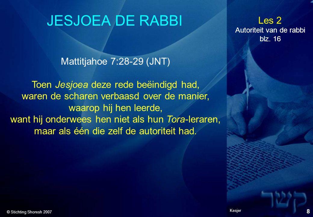 JESJOEA DE RABBI Mattitjahoe 7:28-29 (JNT)