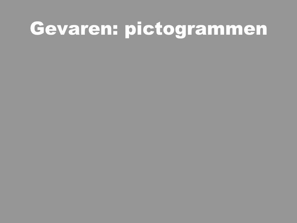 Gevaren: pictogrammen