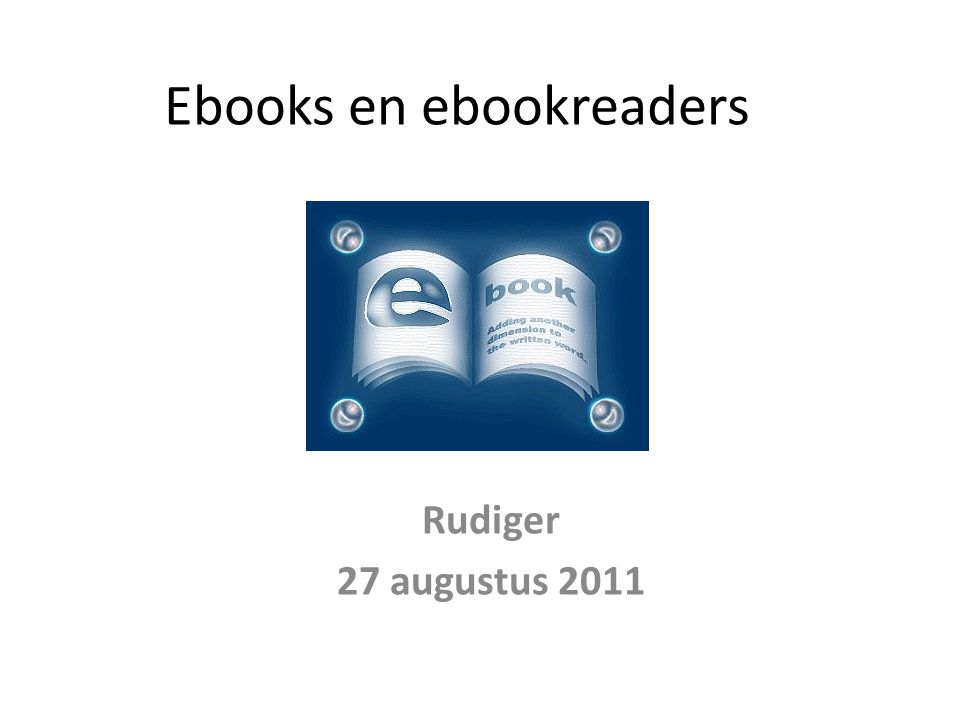 Ebooks en ebookreaders