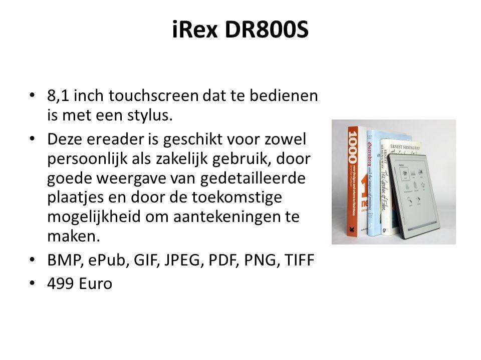 iRex DR800S 8,1 inch touchscreen dat te bedienen is met een stylus.