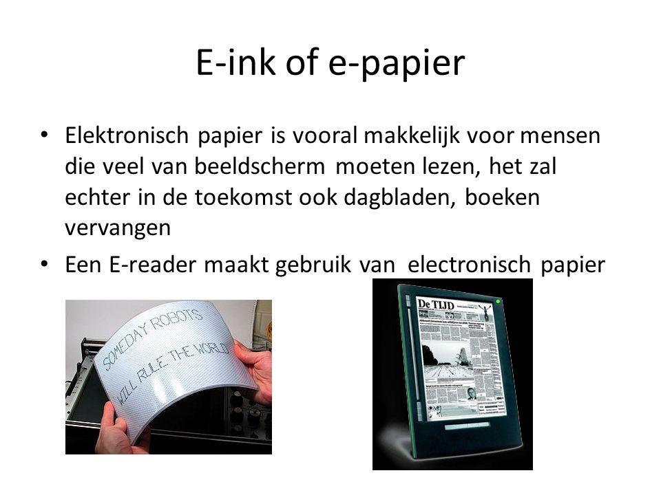 E-ink of e-papier