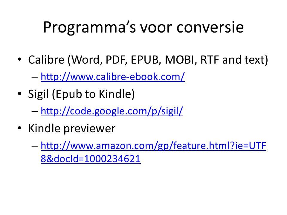 Programma's voor conversie
