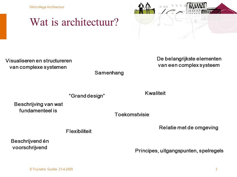 Wat is architectuur De belangrijkste elementen