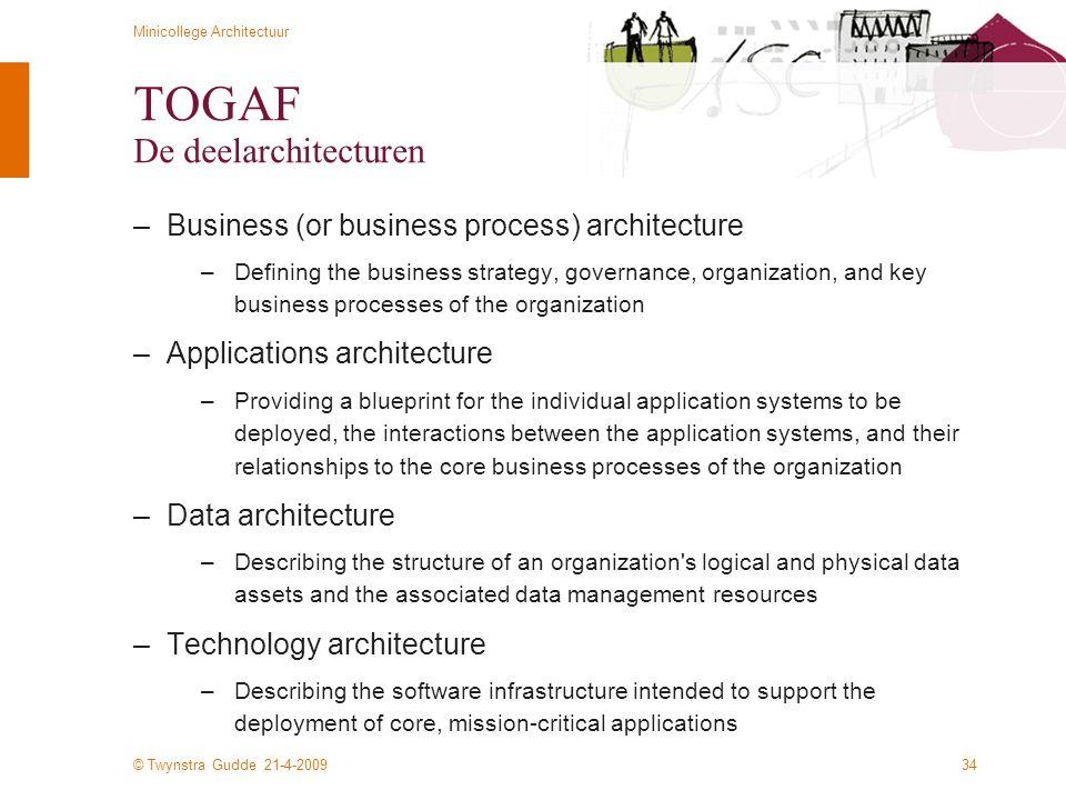 TOGAF De deelarchitecturen