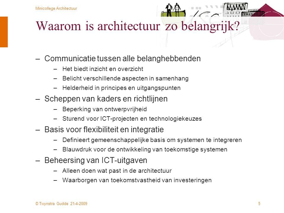 Waarom is architectuur zo belangrijk