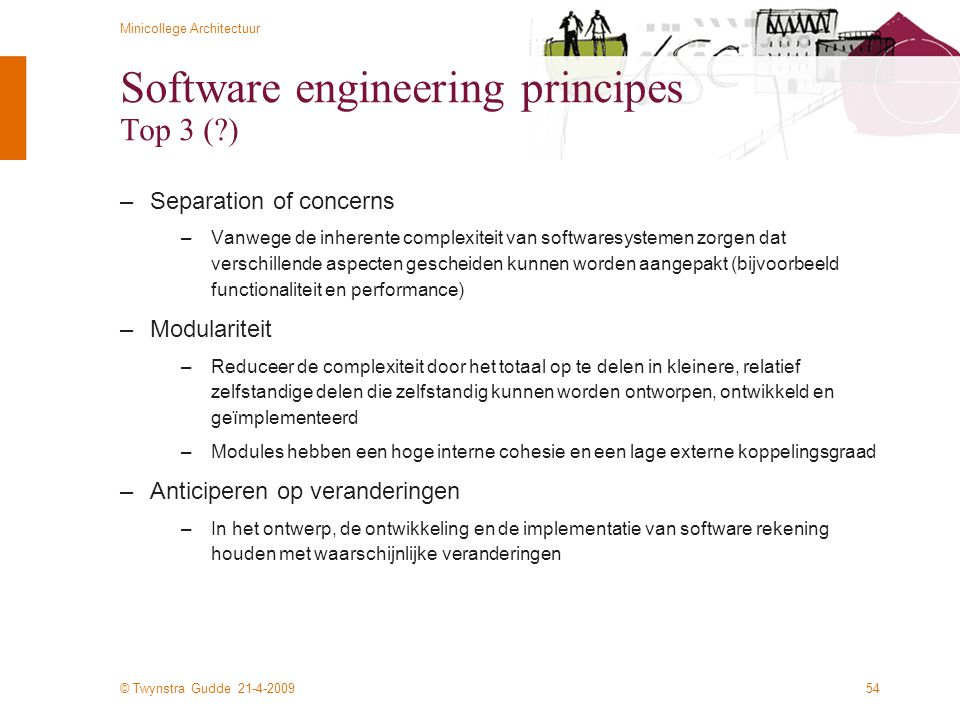 Software engineering principes Top 3 ( )