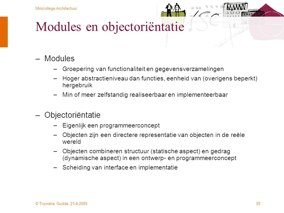 Modules en objectoriëntatie